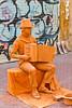 Street performer, mime artist in Palma de Mallorca, Spain.