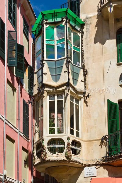 Building architecture in Palma de Mallorca, Spain.