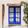 Blue Window with Chain