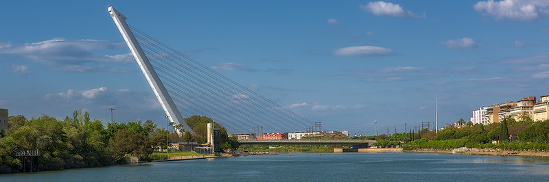 Suspended Bridge Over Guadalquivir