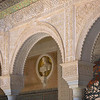 Roman Bust Framed by Moorish Arch