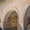 Roman Bust Framed by Moorish Arch