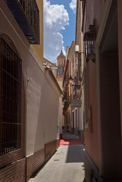 Narrow Street with Red Carpet