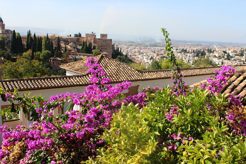 View of the Alhambra and Granada