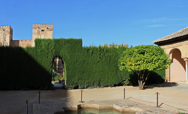 Landscaped Wall and Welcoming Pool