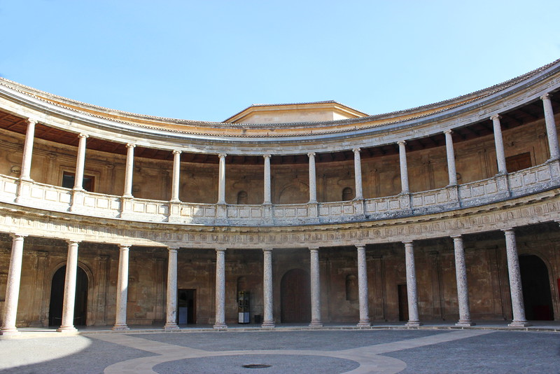 Palace of Charles V Covered Walkways and Courtyard