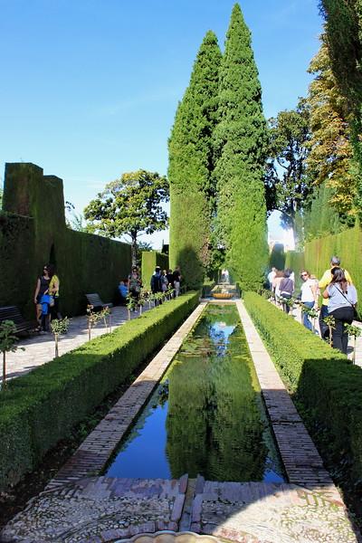Generalife Gardens and Reflecting Pool
