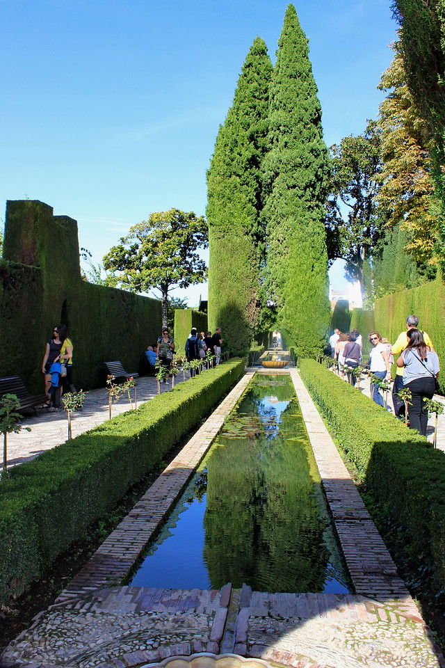 Generalife Gardens and Reflecting Pool