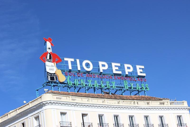 Tio Pepe Wine Sign