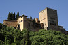 Alhambra, Granada, Mon 5 May 2014 4.  A closer look at the Nasrid palace with the Comares tower at right.