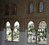 Alhambra, Granada, Mon 5 May 2014 5.  Moorish decoration and calligraphy inside the Comares tower.