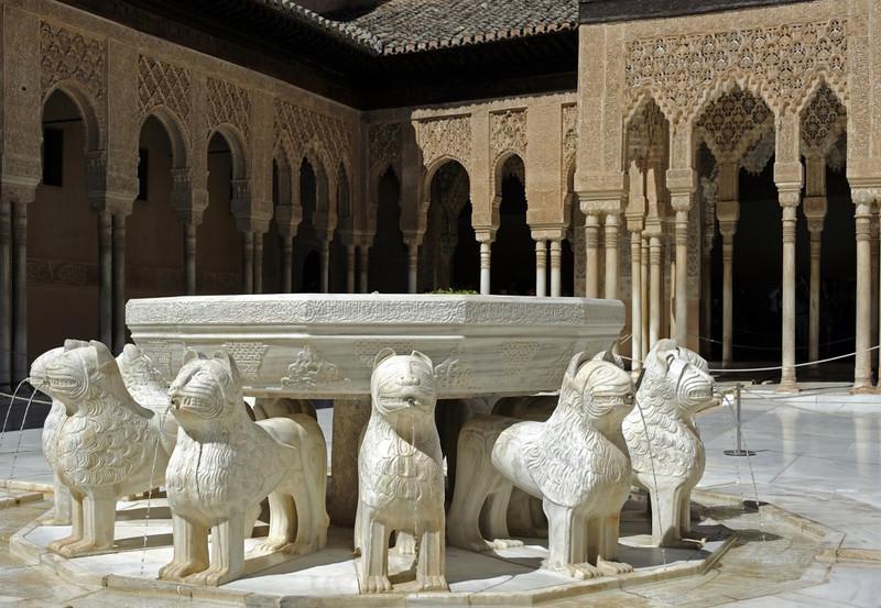 Alhambra, Granada, Mon 5 May 2014 9.  Lion courtyard.