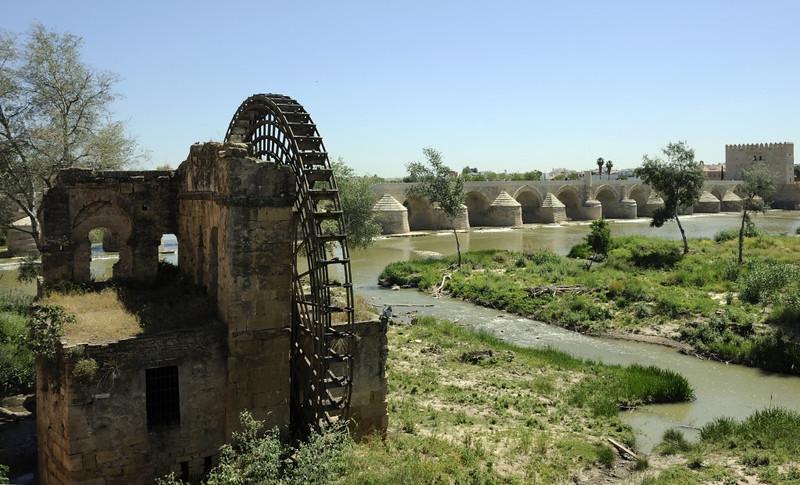 Moorish watermill and Roman bridge, Cordoba, Tues 6 May 2014