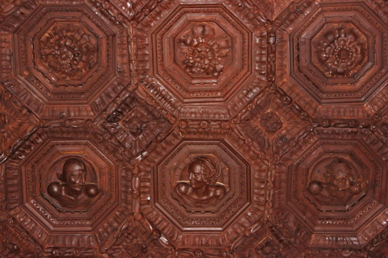 Charles V Carved Wooden Ceiling