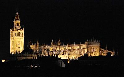 La Giralda and Seville Cathedral at Night