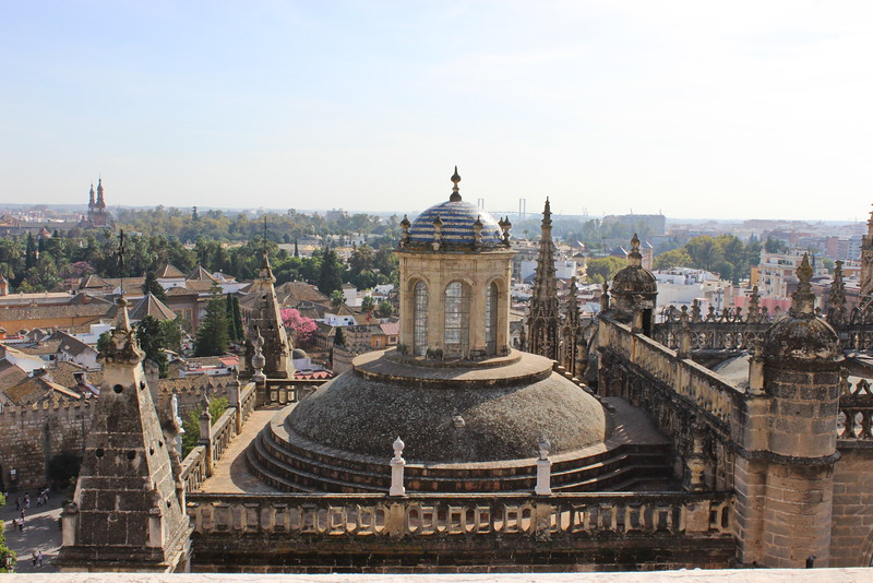 Seville Cathedral Rooftop Dome View