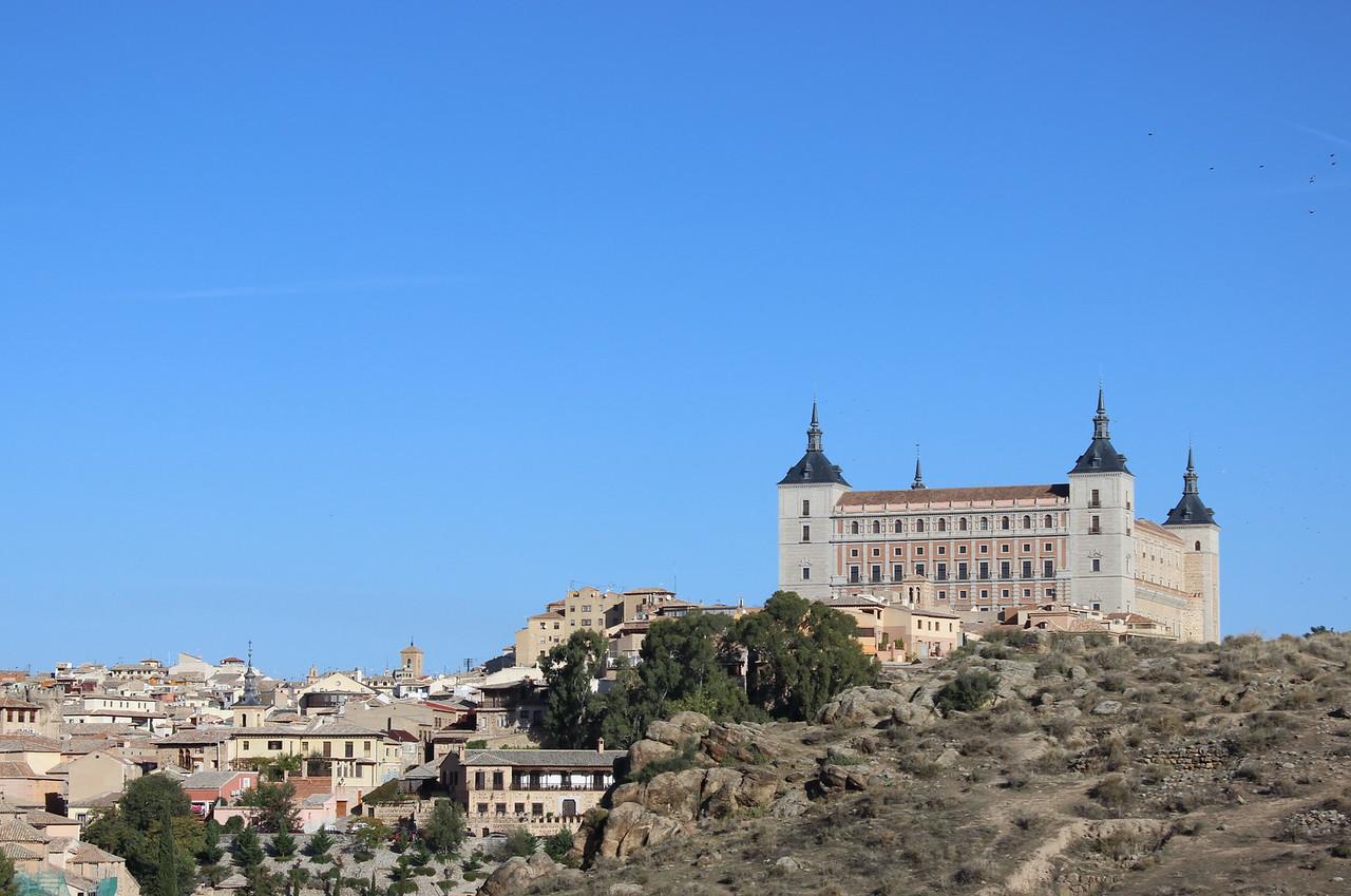 Alcazar and View of Toledo