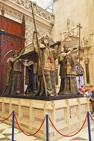 Christopher Columbus tomb in Seville Cathedral