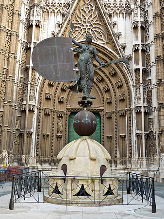 Seville Cathedral - the original La Giralda. Due to age it was replaced with the current La Giralda on the cathedral's bell tower.
