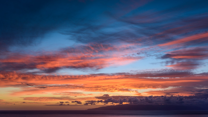 Sunset skies over La Gomera