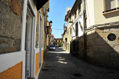 Narrow street, Vigo, Spain
