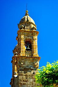 Church belltower, Vigo, Spain