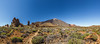 Panorama of the volcano Mt. Teide.
