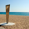 Shower on Empty Beach, Costa Brava