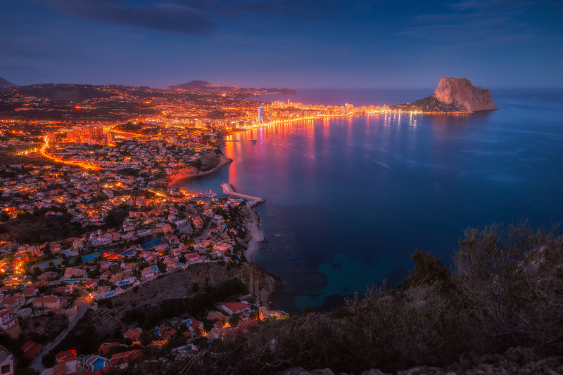 Calpe and Ifach Blue Hour