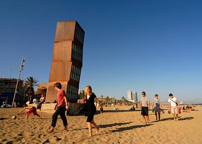 Homenatge Sculpture by Rebecca Horn, Barcelona (Spain)