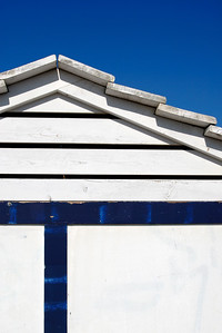 Blue and White Beach Hut, Costa Brava