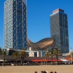 Sunbathers at Barcelona Beach