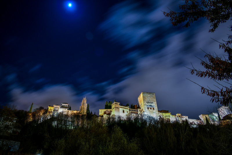 Alhambra Under the Moon