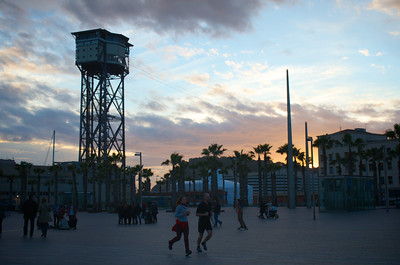 Barcelona Playa Sunset