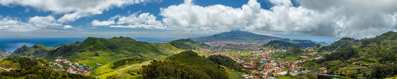 Panorama overlooking Tenerife Spain.