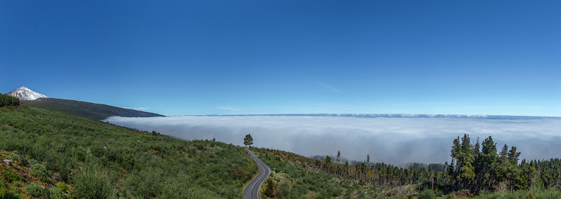 Above the clouds on the island of Tenerife.