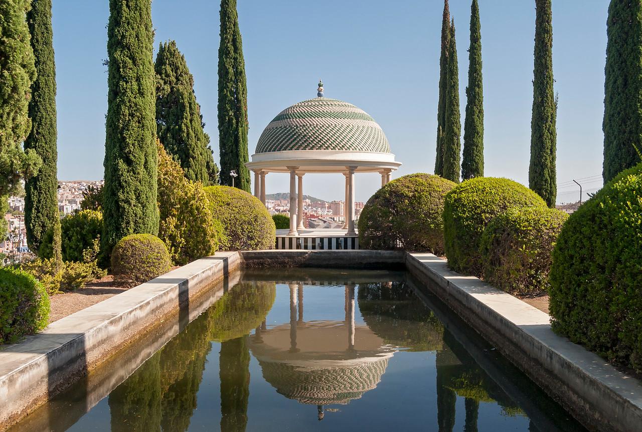 Mirador Pavilion in La Concepcion Botanical and Historical Garden in Malaga, Andalusia, Spain