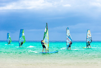 Windsurfing competition - Sotavento beach, Fuerteventura