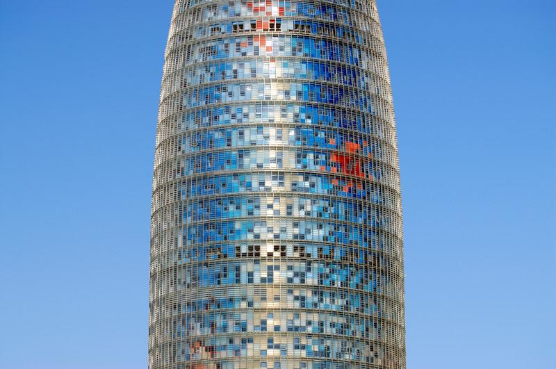 Torre Agbar Skyscraper, Barcelona