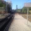 Dual gage track goes to factory. Narrower (meter) gauge main line has ...