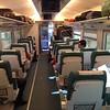 took first class, 3 seats across, from Vigo (west coast of Spain) to Barcelona (east coast)