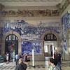 beautiful train station in Porto