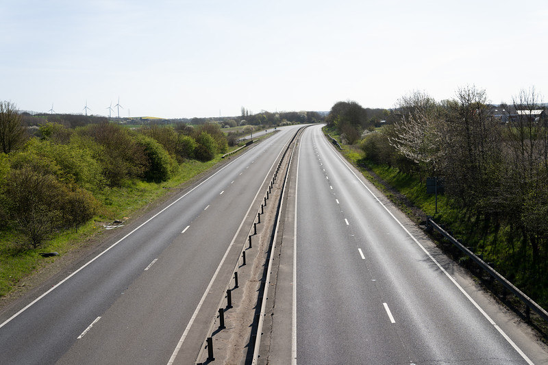 A14 is deserted (Tue 7 April 2020)