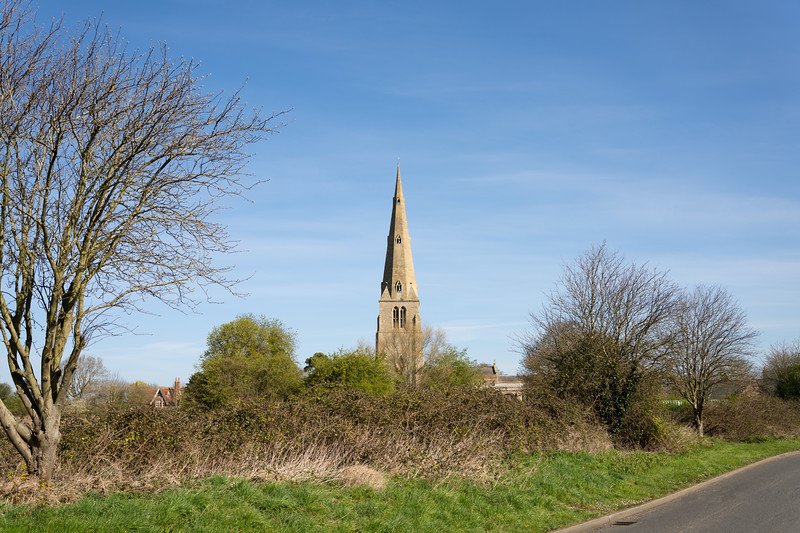 Spaldwick Church closed and no services taking place