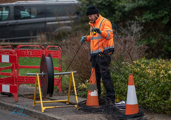 Fibre Cable Fed Through - Ivy Way (2 Mar 2021)