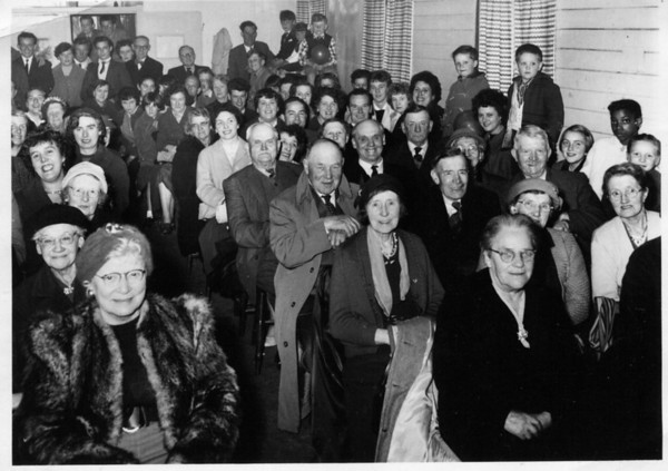 Event held in The Victory Hall (about 1957). Provided by Elizabeth Smith