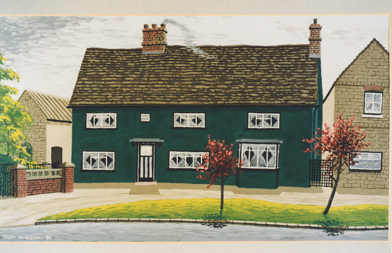Tom Corbin's photo of painting of house (1985)