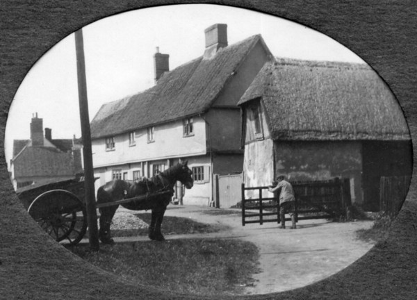 Horse and cart in High Street (photo by Rev Holland). Provided by Elizabeth Smith