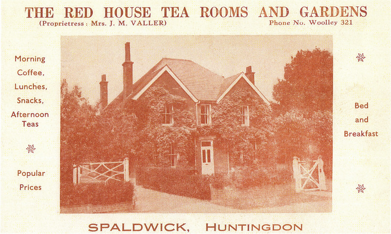 Red House when it was a tea room and bed and breakfast. Provided by John Blatch and scanned in high resolution. The house was bought as a Vicarage in about 1952.