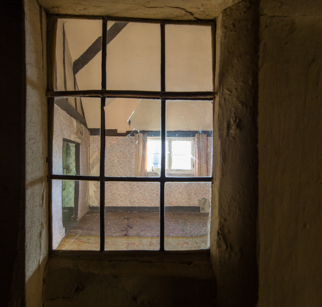 Window from landing looks into the bedroom (Nov 2014)